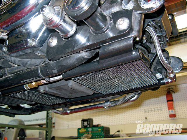 Harley Engine Oil Coolers : Harley oil coolers twisting the wick