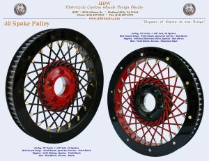 Spoked pulley Black and Red
